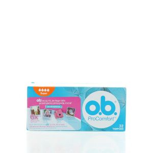 O.B. Tampoane Pro Comfort 32 buc Super