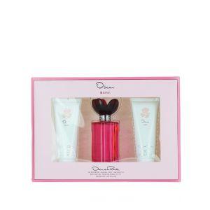 Oscar Caseta: Lotiune de corp + Parfum + Gel de dus 3x100 ml Rose
