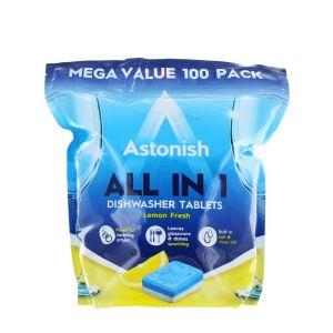 Astonish Tablete pentru masina de spalat vase 100 buc Lemon Fresh