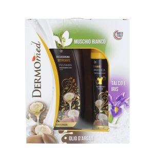 Dermomed Caseta:Gel de dus+Spray deodorant 250+150 ml Argan Oil