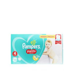 Pampers scutece chilotel nr. 4 Maxi 9-14 kg 104 buc