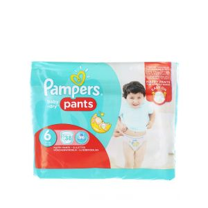 Pampers scutece chilotel nr. 6 Extra Large 15+ kg 38 buc Baby-Dry