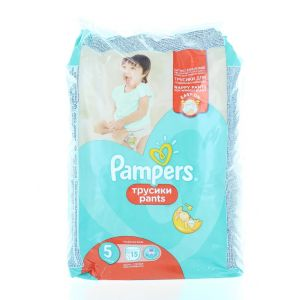 Pampers scutece chilotel nr. 5 Junior 11-18 kg 15 buc