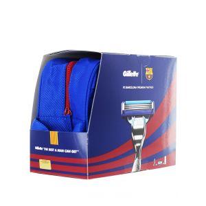 Gillette caseta:Aparat de ras+rezerva (5 buc)+Gel de ras+Gentuta 75 ml Mach3 Turbo