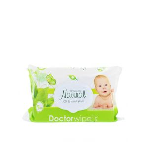 Dr. Wipe's Servetele umede baby cu capac 72 buc Natural