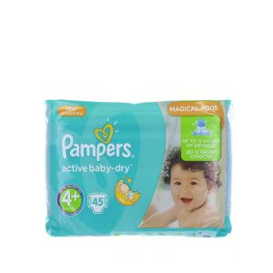 Pampers Active Baby Dry nr.4+ Maxi 9-16 kg 45 buc