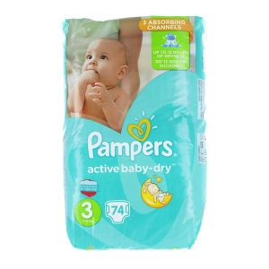 Pampers Active Baby Dry nr.3 5-9 kg 74 buc