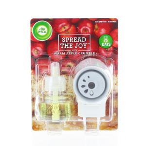 Airwick Aparat Odorizant priza+rezerva 19 ml Spread The Joy Warm Apple Crumble
