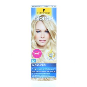 Schwarzkopf Spray colorant pentru par 125 ml Blonde S1 Blondspray
