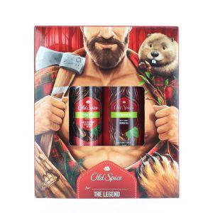 Old Spice Caseta:Spray deodorant+Gel de dus 150+250 ml Timber