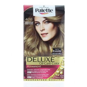 Palette Vopsea de par Deluxe Oil-Care Color 408 Bright Blond