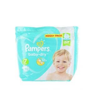 Pampers Baby Dry 7 Air Channels 15+ kg 72 buc