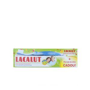 Lacalut Pasta de dinti pentru copii 4-8 ani 50 ml + Periuta