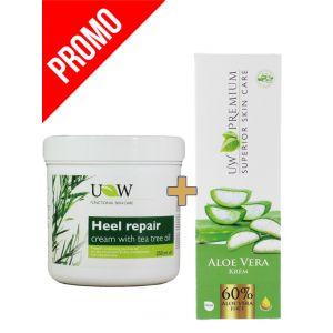 PROMO UW Crema 250 ml Ingrijire calcaie+ Crema Premium 100 ml Aloe Vera