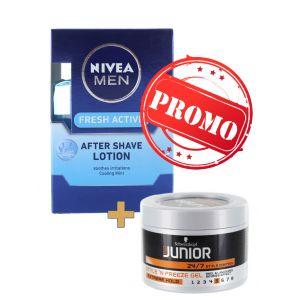 PROMO Nivea After shave 100 ml Fresh Active+Schwarzkopf Junior Gel 200 ml NR:5