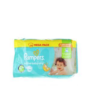 Pampers Active Baby Dry nr.4+ 9-16 kg 120 buc Mega Pack