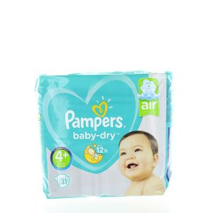 Pampers Baby Dry 4+ Air Channels 10-15  kg 31 buc