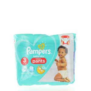Pampers scutece chilotel nr.3 6-11 kg 31 buc Baby-Dry