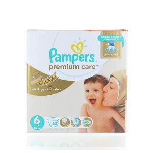 Pampers scutece nr.6 15+ kg 60 buc Premium Care