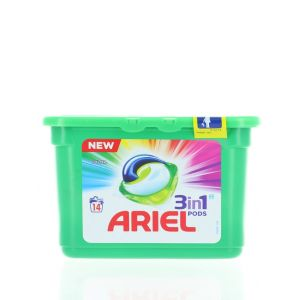 Ariel Detergent Capsule 3in1 14 buc Color