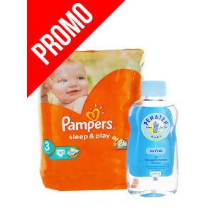 PROMO Pampers Sleep&Play nr.3 16 buc+Penaten Ulei bebe 200 ml Sanft