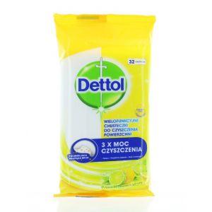 Dettol Servetele umede pt suprafete 32 buc Lemon