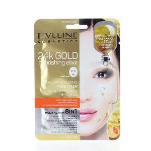 Eveline Masca de fata 8in1 24K Gold Nourishing Elixir