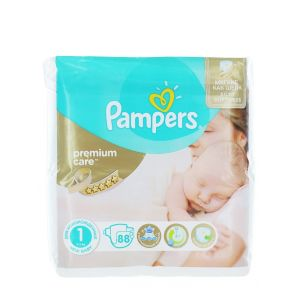 Pampers New Baby nr.1 2-5 kg 88 buc Premium Care