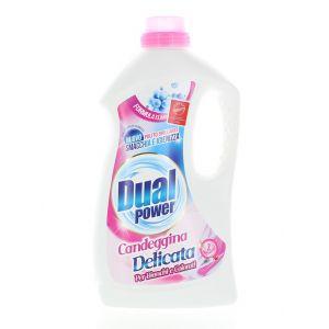 Dual Power Detergent lichid 2 L (rufe albe & colorate) Candeggina Delicata