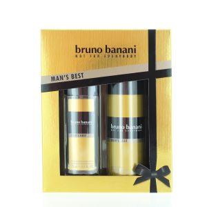 Bruno Banani Caseta barbati:Spray natural+Spray deodorant 75+150ml Man's Best