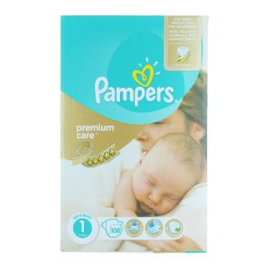 Pampers scutece New baby nr.1 2-5 kg 108 buc Premium Care