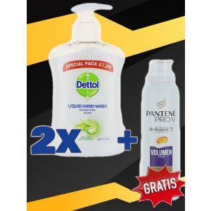 2xDettol Sapun lichid 250 ml Aloe+Pantene Balsam spuma 140 ml Volumen Pur GRATIS