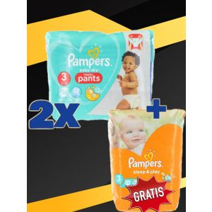 2xPampers chilotel nr.3 6-11 kg 31 buc BabyDry+Pampers Sleep&Play nr.3 16 buc GRATIS