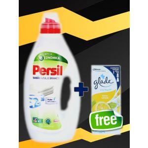 Persil Lichid 1.35 L Sabao Azul E Branco+ Glade rezerva 10 ml Fresh Lemon GRATIS