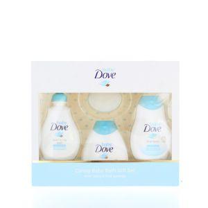 Dove Baby Caseta:Lotiune de spalare+Lotiune de corp+Sampon+Burete 3x200 ml