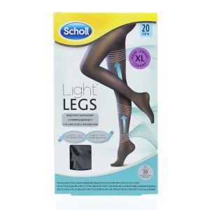 Scholl Light Legs Ciorapi compresivi 20 DEN maime XL (negru)