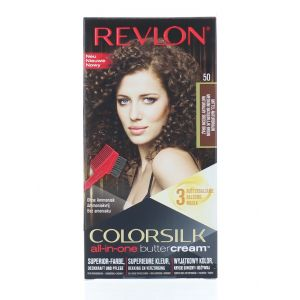Revlon Vopsea de par Colorsilk Buttercream 50 Medium Natural Brown