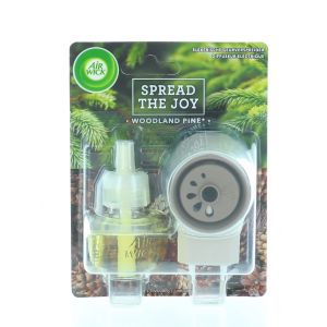 Airwick Aparat Odorizant priza+rezerva 19 ml Spread The Joy Woodland Pine