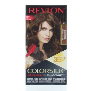 Revlon Vopsea de par Colorsilk Buttercream 53 Medium Gold Brown