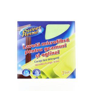 Sweet Home Laveta microfibra pentru geamuri si oglinzi 1 buc