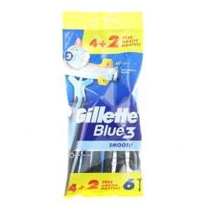Gillette Aparat de ras Blue 3 6 buc Smooth