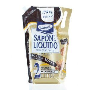 Milmil Sapun licid rezerva 2 L Argan & Miele