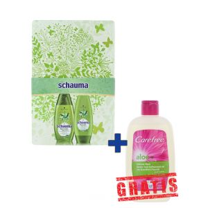 Schauma caseta:Sampon+Balsam 2x250ml+Carefree Gel Intim 200 ml GRATIS