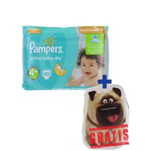 Pampers Active Baby Dry nr.4+ Maxi 9-16 kg 45 buc+Prosopel magic GRATIS