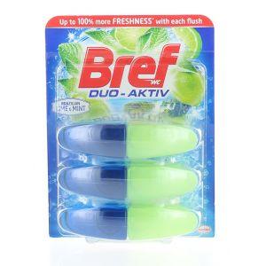 Bref Rezerva Odorizant WC Duo-Aktiv 3x50 ml Lime&Mint
