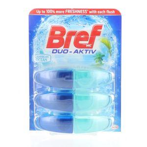 Bref Rezerva Odorizant WC Duo-Aktiv 3x50 ml Caribbean Ocean