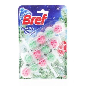 Bref Odorizant WC cu bile 3x50g Winter Magic