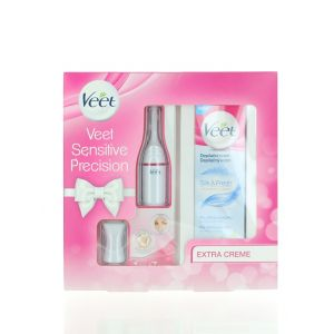 Veet Pachet Epilator Trimmer Sensitive Precision+Veet Crema depilatoare 100 ml Silk & Fresh