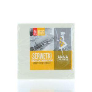 Anna Servetele de masa 2 straturi 50 buc 33x33 cm Champagne(cod:665)