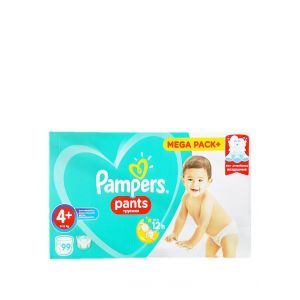 Pampers scutece chilotel nr.4+ 9-15 kg 99 buc Baby Dry